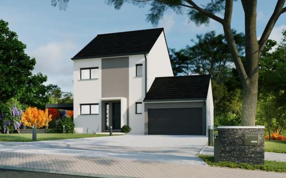 Maison+Terrain à vendre .(91 m²)(LIZY SUR OURCQ) avec (MAISON FAMILIALE MAREUIL LES MEAUX)