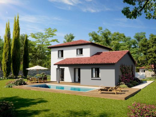 Maison+Terrain à vendre .(104 m²)(LA TALAUDIERE) avec (DEMEURES CALADOISES)