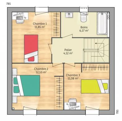 Maison+Terrain à vendre .(83 m²)(GUIGNICOURT) avec (MAISONS FRANCE CONFORT)
