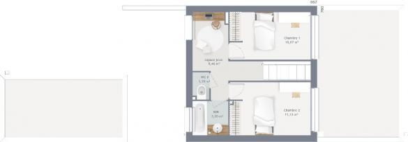 Maison+Terrain à vendre .(90 m²)(CHATEAU THIERRY) avec (MAISONS FRANCE CONFORT)