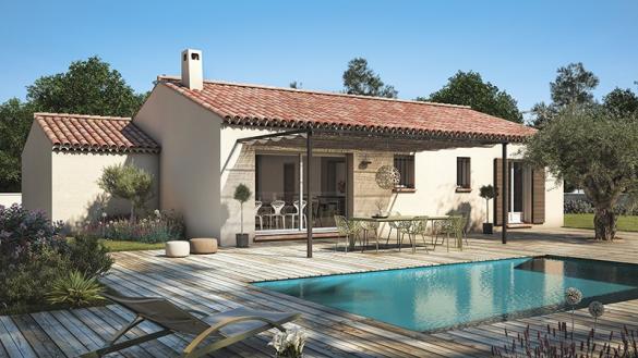 Maison à vendre .(90 m²)(GIGNAC) avec (LES MAISONS DE MANON)