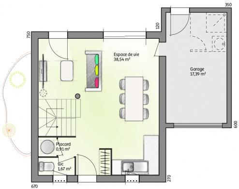 Maison à vendre .(78 m²)(BRIGNAC) avec (LES MAISONS DE MANON)