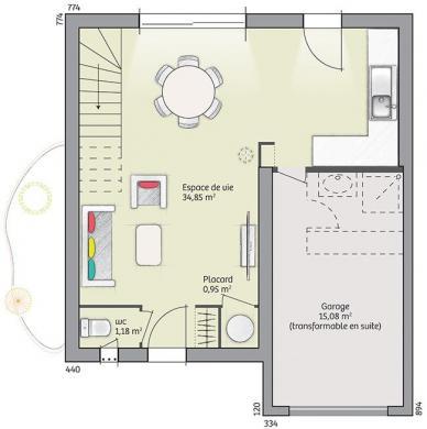 Maison à vendre .(82 m²)(SAINT JEAN DE LA BLAQUIERE) avec (LES MAISONS DE MANON)
