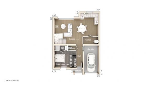 Maison+Terrain à vendre .(95 m²)(PLAISSAN) avec (LES MAISONS DE MANON)