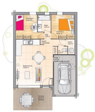Maison+Terrain à vendre .(60 m²)(SAINT ANDRE DE SANGONIS) avec (LES MAISONS DE MANON)