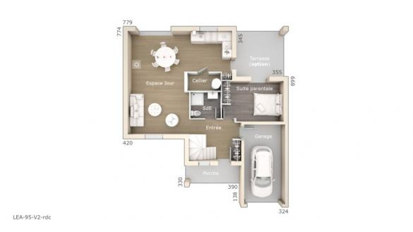 Maison+Terrain à vendre .(95 m²)(SAINT JEAN DE FOS) avec (LES MAISONS DE MANON)