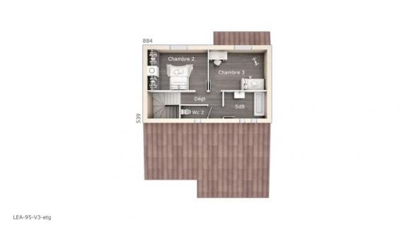 Maison+Terrain à vendre .(95 m²)(CANET) avec (LES MAISONS DE MANON)
