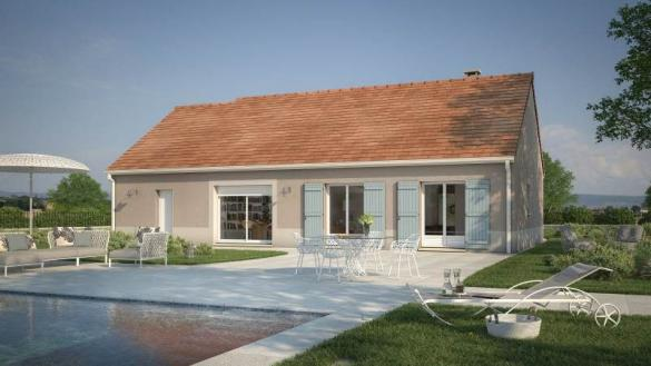 Maison+Terrain à vendre .(60 m²)(BETON BAZOCHES) avec (Maisons France Confort)