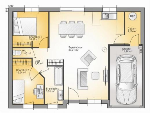 Maison+Terrain à vendre .(75 m²)(OIZE) avec (Maisons France Confort-maisons-france-confort)
