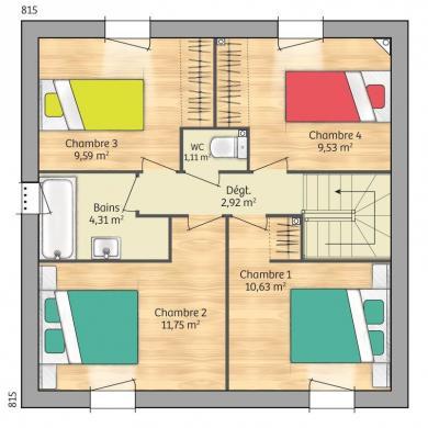 Maison+Terrain à vendre .(93 m²)(OIZE) avec (Maisons France Confort-maisons-france-confort)