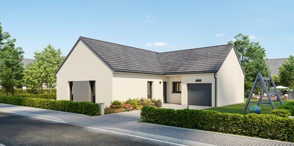 Maison+Terrain à vendre .(106 m²)(LHOMME) avec (Maisons France Confort-maisons-france-confort)