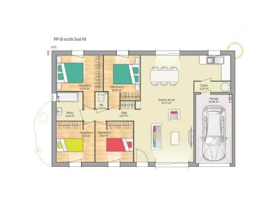 Maison+Terrain à vendre .(93 m²)(SAINT BIEZ EN BELIN) avec (Maisons France Confort-maisons-france-confort)
