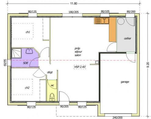 Maison+Terrain à vendre .(67 m²)(SAINT URBAIN) avec (LMP CONSTRUCTEUR)