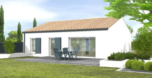 Maison+Terrain à vendre .(77 m²)(SAINT PHILBERT DE BOUAINE) avec (LMP CONSTRUCTEUR)