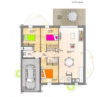 Maison+Terrain à vendre .(77 m²)(LA CHAIZE LE VICOMTE) avec (LMP CONSTRUCTEUR)