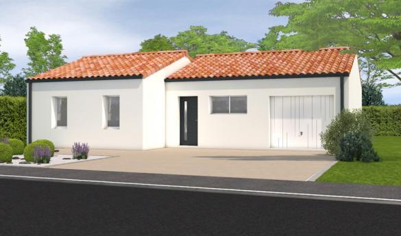 Maison+Terrain à vendre .(71 m²)(LA CHAIZE LE VICOMTE) avec (LMP CONSTRUCTEUR)