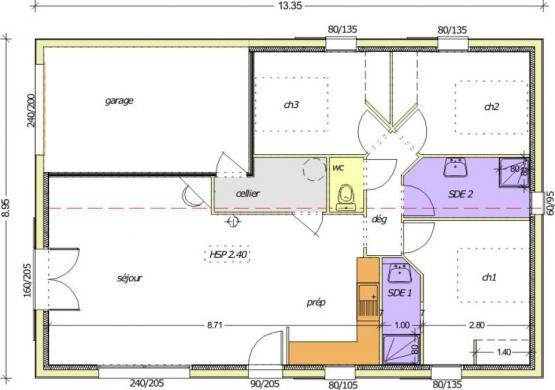 Maison+Terrain à vendre .(84 m²)(LA ROCHE SUR YON) avec (LMP CONSTRUCTEUR)