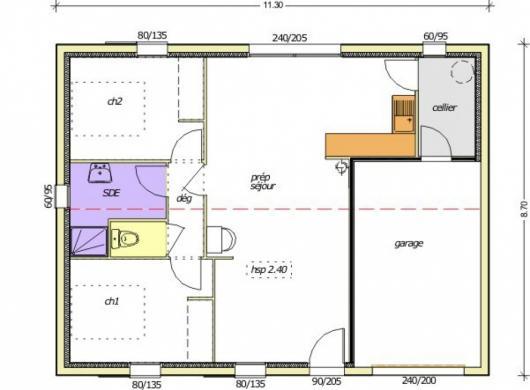 Maison+Terrain à vendre .(65 m²)(LA ROCHE SUR YON) avec (LMP CONSTRUCTEUR)