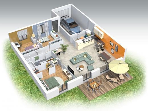 Maison+Terrain à vendre .(92 m²)(BELLEVILLE) avec (COMPAGNIE DE CONSTRUCTION)