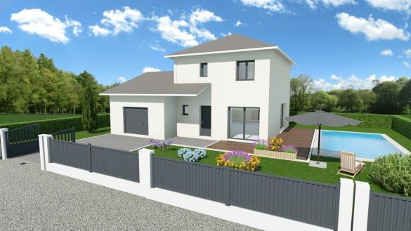 Maison+Terrain à vendre .(90 m²)(VOGLANS) avec (COMPAGNIE DE CONSTRUCTION)