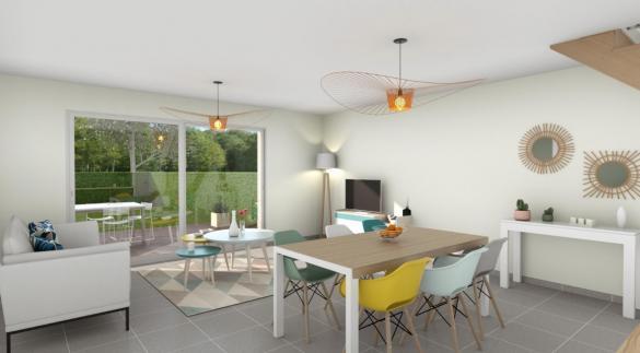 Maison+Terrain à vendre .(95 m²)(BEAUREGARD) avec (COMPAGNIE DE CONSTRUCTION)