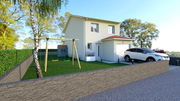 Maison+Terrain à vendre .(95 m²)(AMBERIEU EN BUGEY) avec (COMPAGNIE DE CONSTRUCTION)