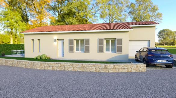 Maison+Terrain à vendre .(92 m²)(SALLES ARBUISSONNAS BEAUJOLAIS) avec (COMPAGNIE DE CONSTRUCTION)