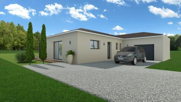 Maison+Terrain à vendre .(95 m²)(LAGNIEU) avec (COMPAGNIE DE CONSTRUCTION)
