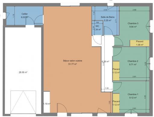 Maison+Terrain à vendre .(104 m²)(CRESSANGES) avec (LES DEMEURES REGIONALES)