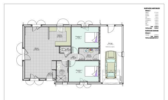 Maison+Terrain à vendre .(74 m²)(AVERMES) avec (LES DEMEURES REGIONALES)