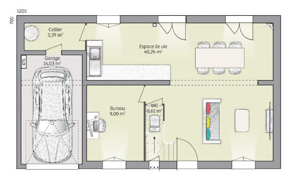 Maison+Terrain à vendre .(90 m²)(FONTAINEBLEAU) avec (MAISONS FRANCE CONFORT)