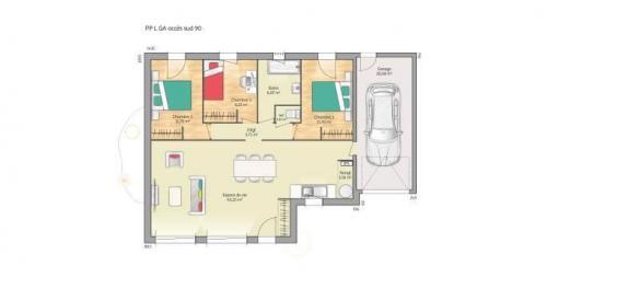 Maison+Terrain à vendre .(90 m²)(MONTEREAU FAULT YONNE) avec (MAISONS FRANCE CONFORT)