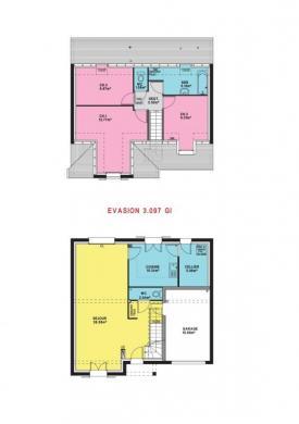Maison à vendre .(97 m²)(MARSEILLE EN BEAUVAISIS) avec (MAISONS PIERRE  BEAUVAIS)