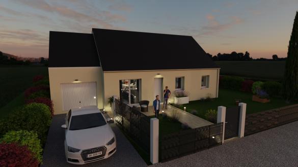 Maison+Terrain à vendre .(85 m²)(BEUZEVILLE) avec (Maisons Axcess)