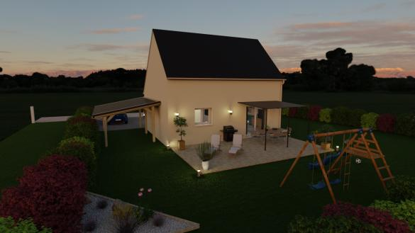 Maison+Terrain à vendre .(90 m²)(LA SAUSSAYE) avec (Maisons Axcess)
