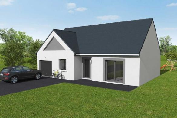 Maison+Terrain à vendre .(87 m²)(AMFREVILLE SUR ITON) avec (Maisons Axcess)