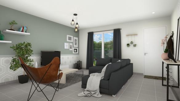 Maison+Terrain à vendre .(85 m²)(PONT L'EVEQUE) avec (Maisons Axcess)