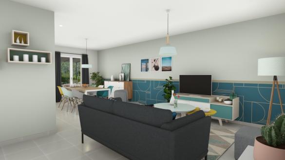 Maison+Terrain à vendre .(100 m²)(SAINT PHILBERT DES CHAMPS) avec (Maisons Axcess)