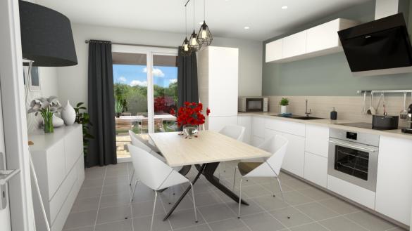 Maison+Terrain à vendre .(85 m²)(CAUMONT) avec (Maisons Axcess)