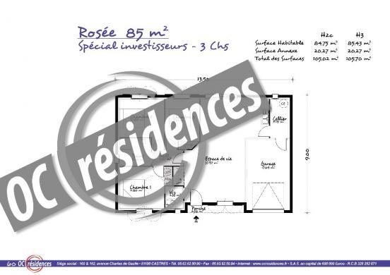 Maison+Terrain à vendre .(85 m²)(LISLE SUR TARN) avec (OC RESIDENCES - GAILLAC)