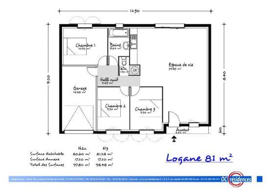 Maison+Terrain à vendre .(80 m²)(TECOU) avec (OC RESIDENCES - GAILLAC)