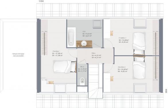 Maison+Terrain à vendre .(115 m²)(ONCY SUR ECOLE) avec (MAISONS FRANCE CONFORT)