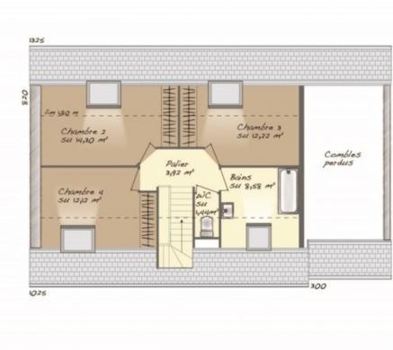 Maison+Terrain à vendre .(100 m²)(CHOISEL) avec (MAISONS BALENCY)