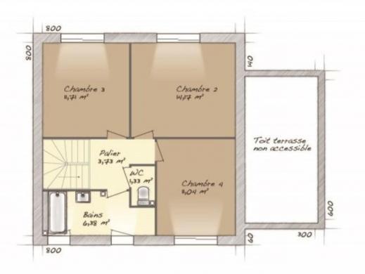 Maison+Terrain à vendre .(98 m²)(PERIGNY SUR YERRES) avec (MAISONS BALENCY)