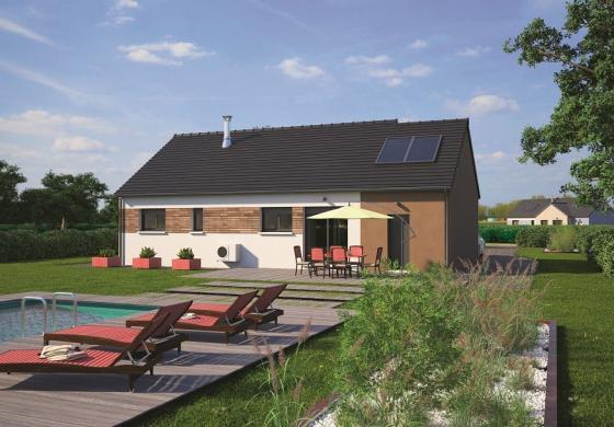 Maison+Terrain à vendre .(80 m²)(SAINT SULPICE DE FAVIERES) avec (MAISONS BALENCY)