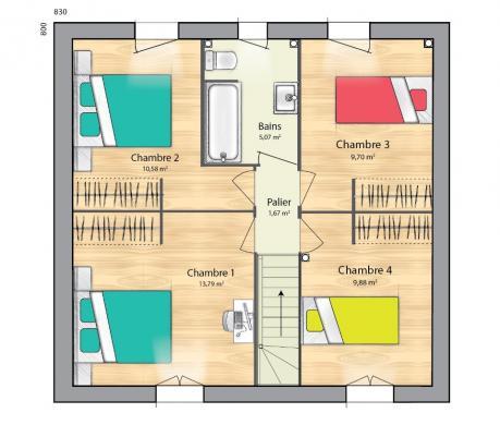 Maison+Terrain à vendre .(89 m²)(BRIIS SOUS FORGES) avec (MAISONS BALENCY)