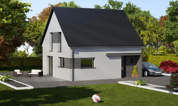 Maison à vendre .(83 m²)(MOLLKIRCH) avec (ALSAMAISON)
