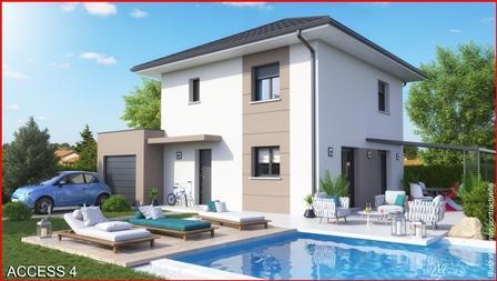 Maison+Terrain à vendre .(90 m²)(HAUTEVILLE SUR FIER) avec (MCA)