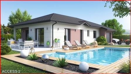 Maison+Terrain à vendre .(90 m²)(CHILLY) avec (MCA)