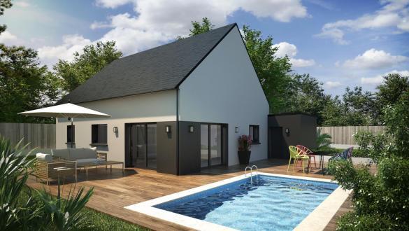 Maison+Terrain à vendre .(63 m²)(LANDEVANT) avec (CONSTRUCTIONS DU BELON)